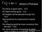 abram s promises