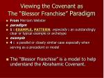 viewing the covenant as the blessor franchise paradigm