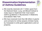 dissemination implementation of asthma guidelines
