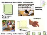 implementation of innovations in primary care