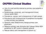 okprn clinical studies