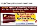 http www johnthornhillmasterclass biz