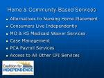 home community based services