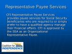 representative payee services