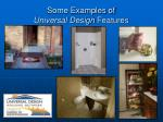 some examples of universal design features