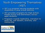 youth empowering themselves yet