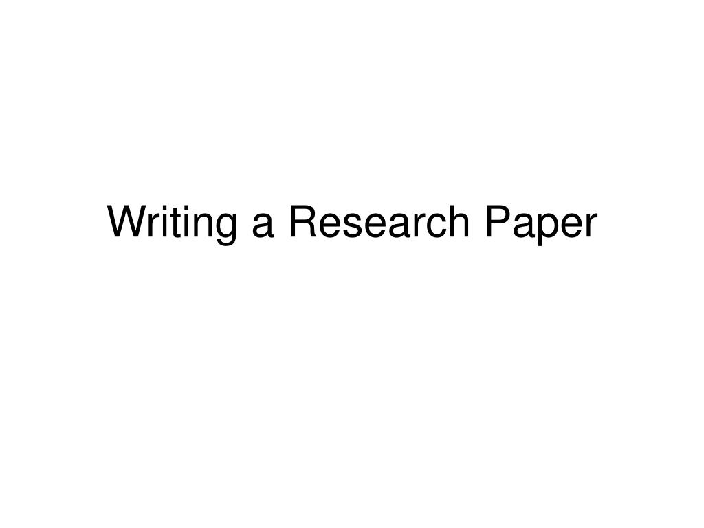 writing a research paper l.