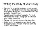 writing the body of your essay