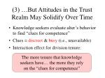 3 but attitudes in the trust realm may solidify over time