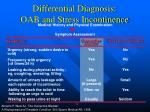 differential diagnosis oab and stress incontinence