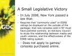 a small legislative victory