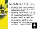 fun facts from the report
