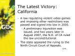 the latest victory california