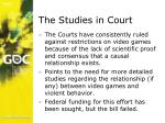 the studies in court