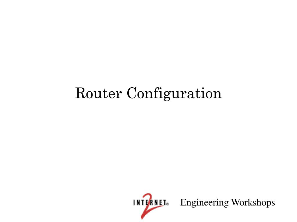 router configuration l.