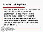 grades 3 8 update