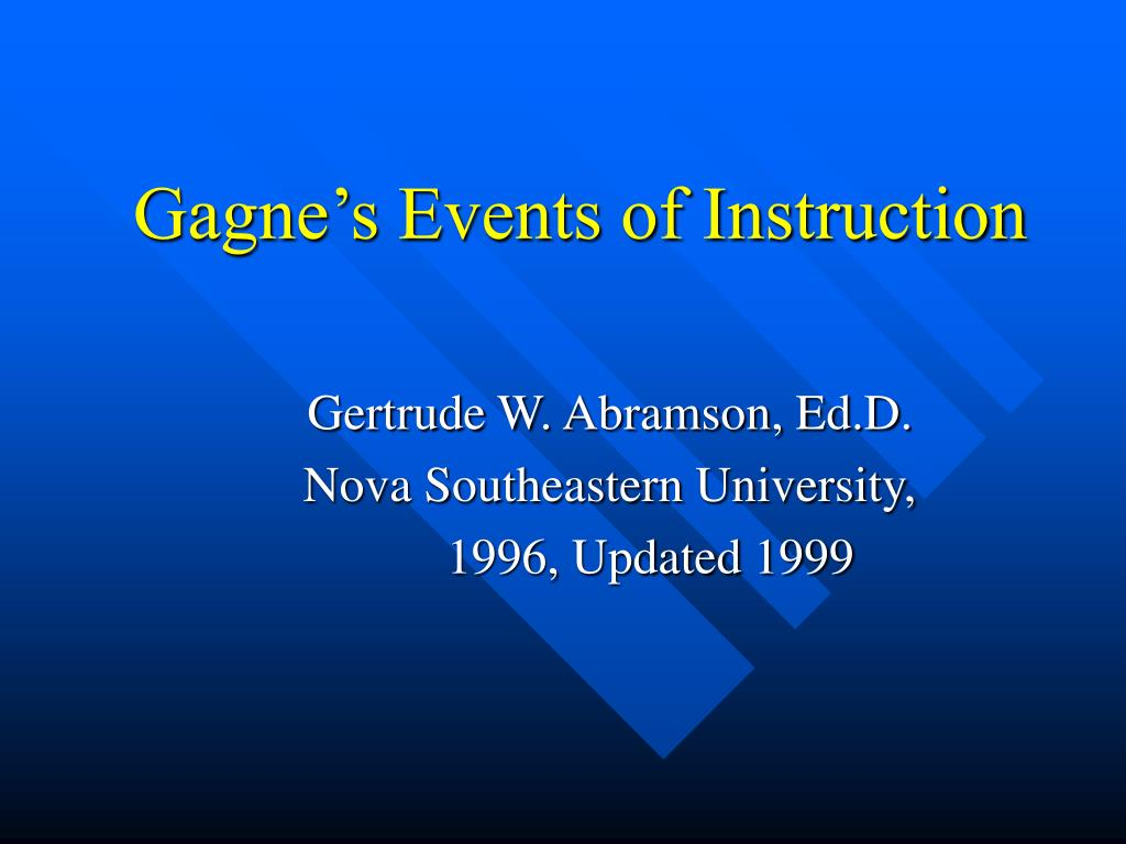 gagne s events of instruction l.