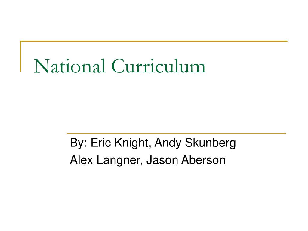 national curriculum l.