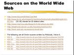 sources on the world wide web