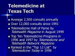 telemedicine at texas tech
