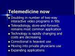 telemedicine now