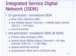 integrated service digital network isdn