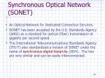 synchronous optical network sonet