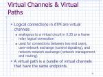 virtual channels virtual paths