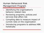 human behavioral risk management program