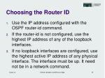 choosing the router id