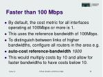 faster than 100 mbps