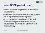 hello ospf packet type 1