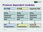 protocol dependent modules