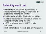 reliability and load