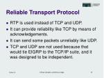 reliable transport protocol