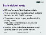 static default route