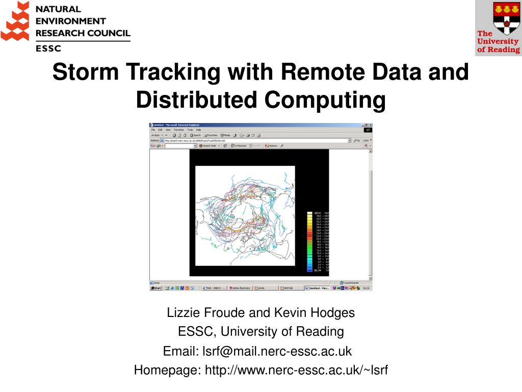 storm tracking with remote data and distributed computing l.