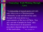 counseling faith working through love