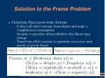 solution to the frame problem