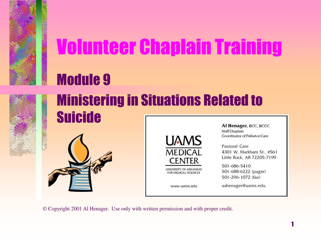 volunteer chaplain training l.
