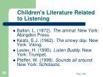 children s literature related to listening