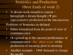 semiotics and production three kinds of work 2