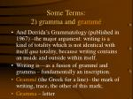 some terms 2 gramma and gramm