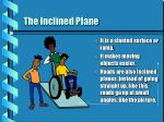 the inclined plane