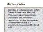 march canadien