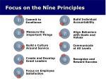focus on the nine principles