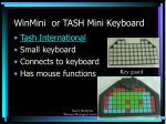 winmini or tash mini keyboard