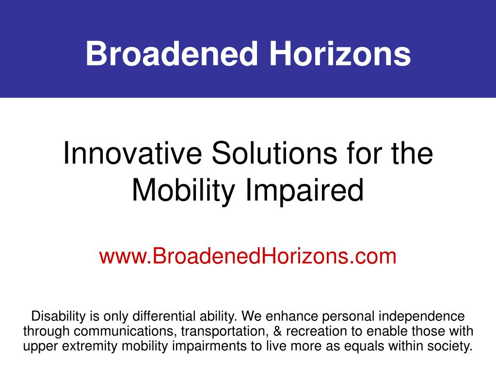 innovative solutions for the mobility impaired l.