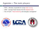 agencies the main players