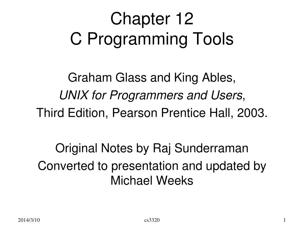 chapter 12 c programming tools l.